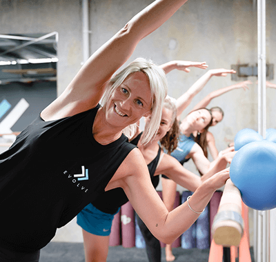 Women doing stretching
