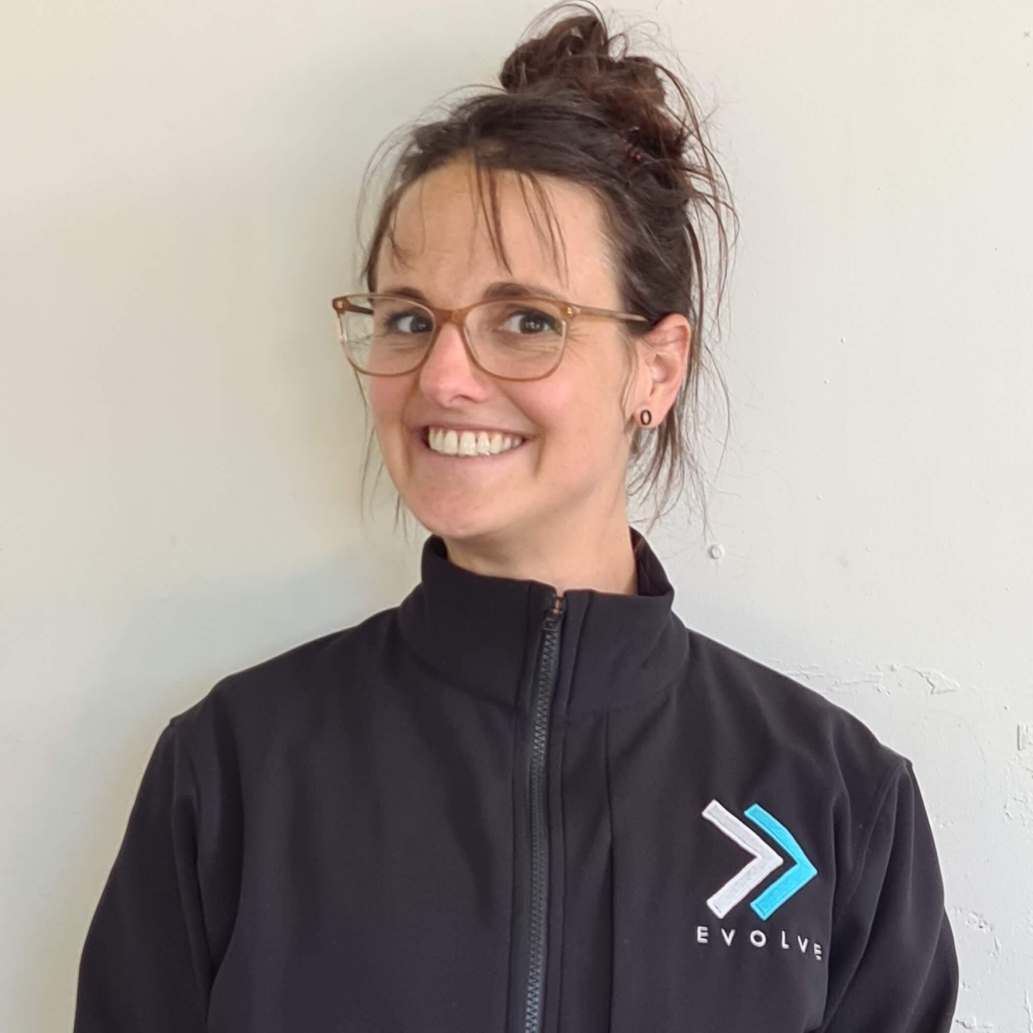 Evolve exercise trainer woman face portrait